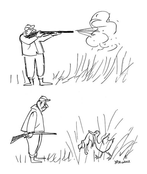 Duck Hunting Drawing - New Yorker December 9th, 1961 by Frank Modell
