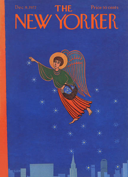 Skyline Painting - New Yorker December 9th, 1972 by Charles E Martin