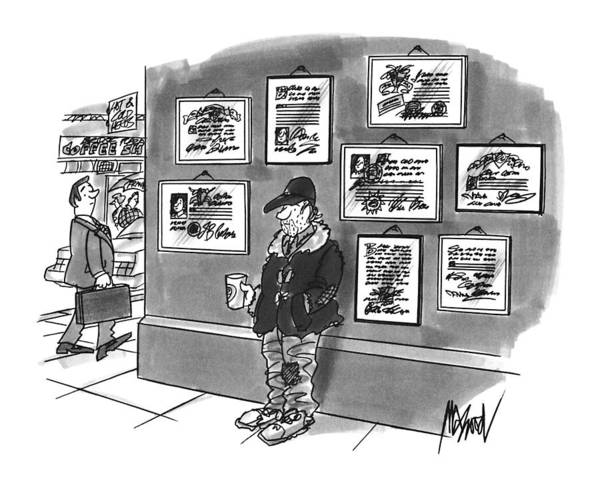 Drawing - New Yorker December 9th, 1996 by Kenneth Mahood