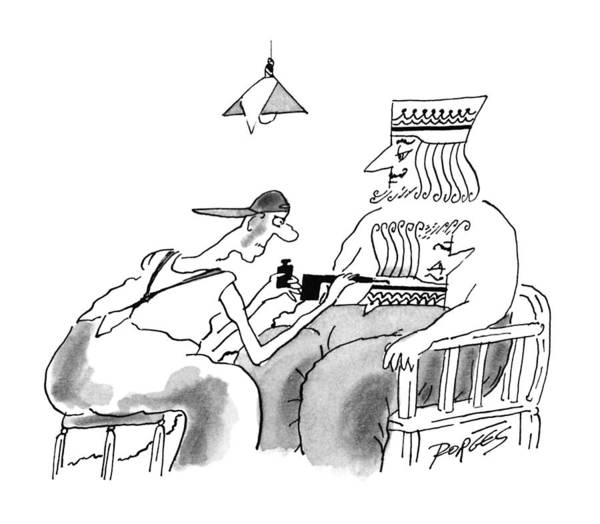 Tattoo Drawing - New Yorker December 9th, 1996 by Peter Porges