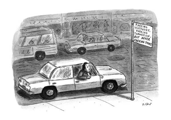 Drawing - New Yorker December 9th, 1996 by Roz Chast