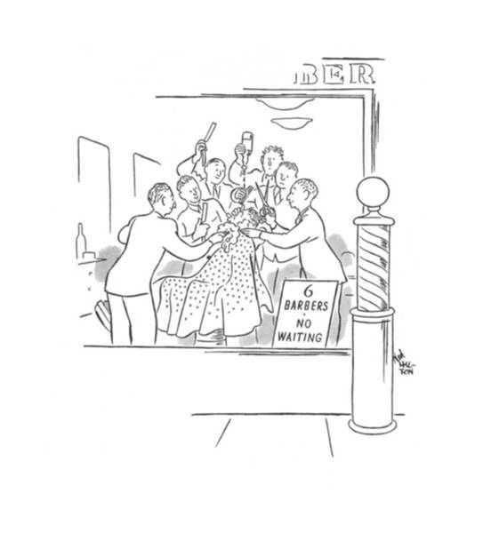 Window Drawing - New Yorker February 10th, 1940 by Ned Hilton