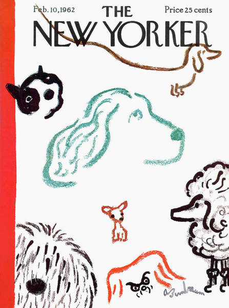 Men Painting - New Yorker February 10th, 1962 by Abe Birnbaum