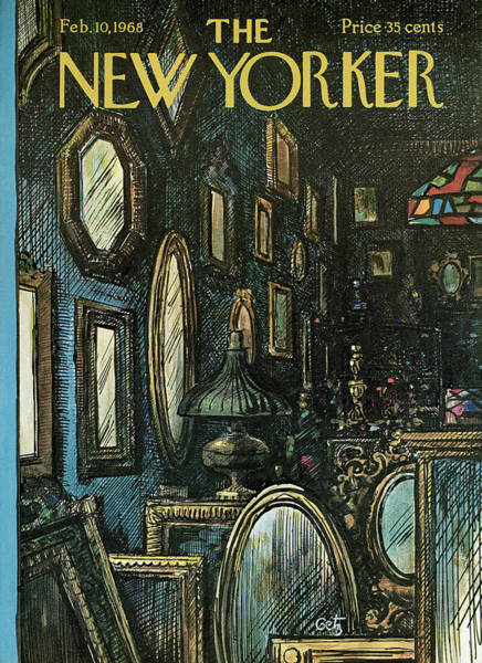 Store Painting - New Yorker February 10th, 1968 by Arthur Getz