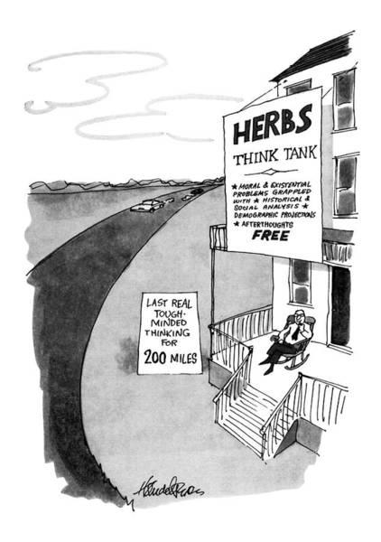 Rocking Chair Wall Art - Drawing - New Yorker February 10th, 1975 by J.B. Handelsman