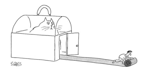 Cats Drawing - New Yorker February 10th, 1992 by Sam Gross