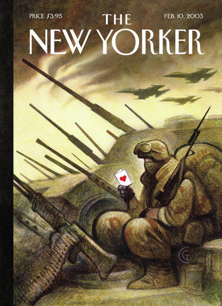 War Painting - New Yorker February 10th, 2003 by Carter Goodrich