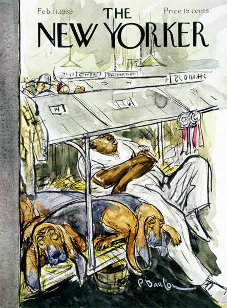 Adult Painting - New Yorker February 11 1939 by Perry Barlow