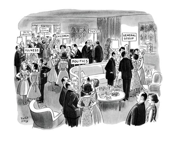 Pleasure Drawing - New Yorker February 11th, 1961 by Robert J. Day