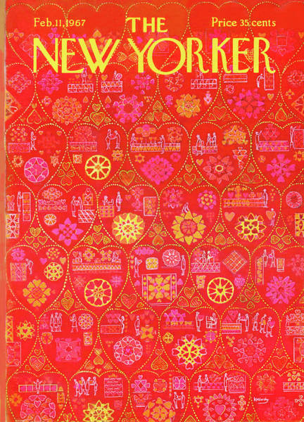 Holidays Painting - New Yorker February 11th, 1967 by Anatol Kovarsky
