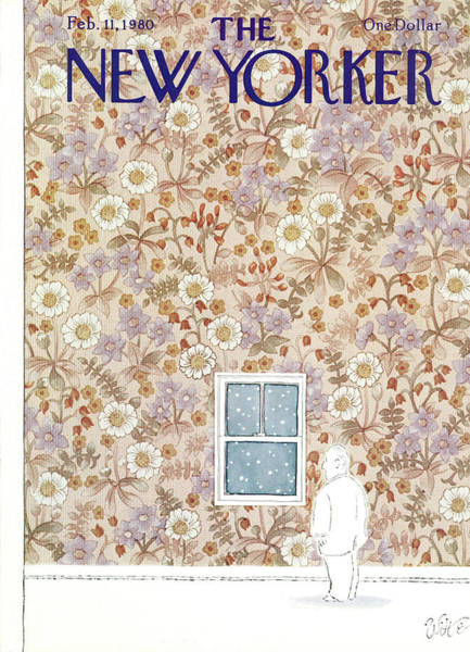Snowing Painting - New Yorker February 11th, 1980 by Michael Witte