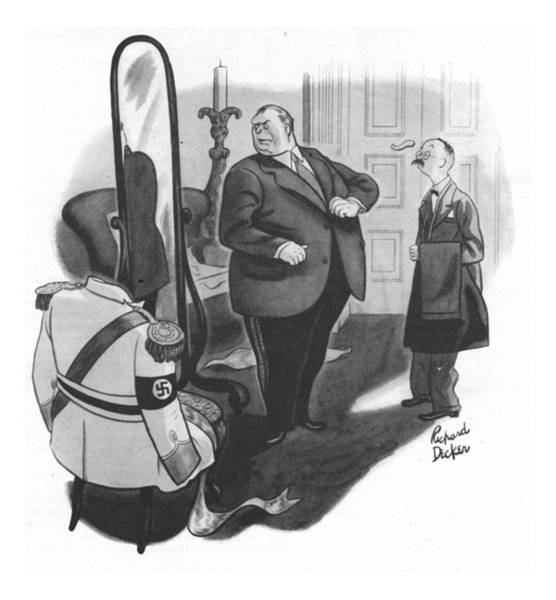 Hitler Drawing - New Yorker February 12th, 1944 by Richard Decker