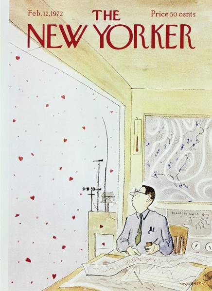 Office Furniture Painting - New Yorker February 12th 1972 by James Stevenson