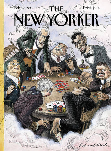 Fdr Painting - New Yorker February 12th, 1996 by Edward Sorel
