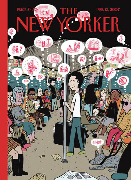 Thinking Painting - New Yorker February 12th, 2007 by David Heatley