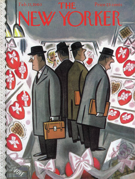 Candy Painting - New Yorker February 13th, 1960 by Leonard Dove