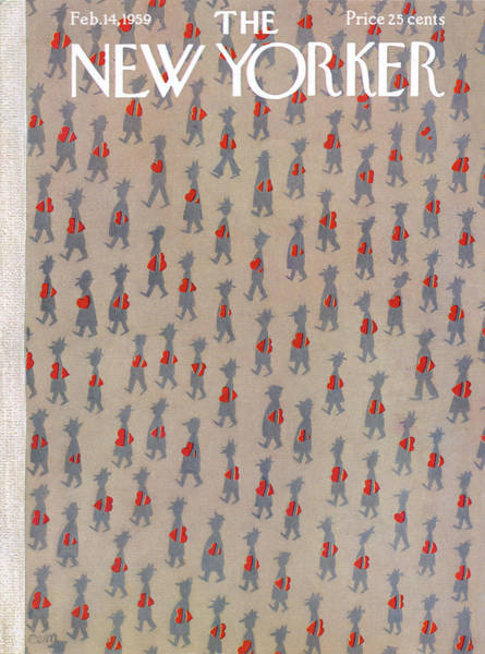 Candy Painting - New Yorker February 14th, 1959 by Charles E Martin