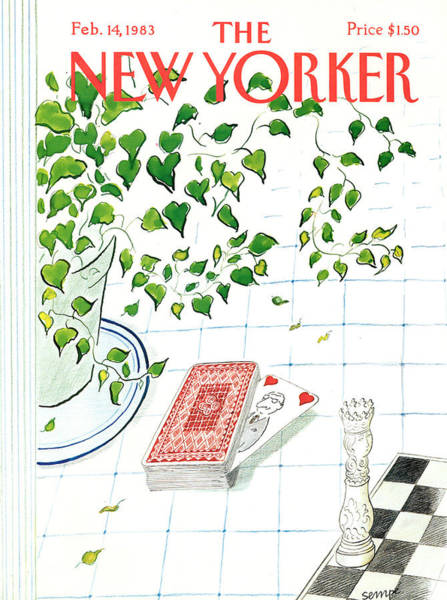 February 14th Painting - New Yorker February 14th, 1983 by Jean-Jacques Sempe