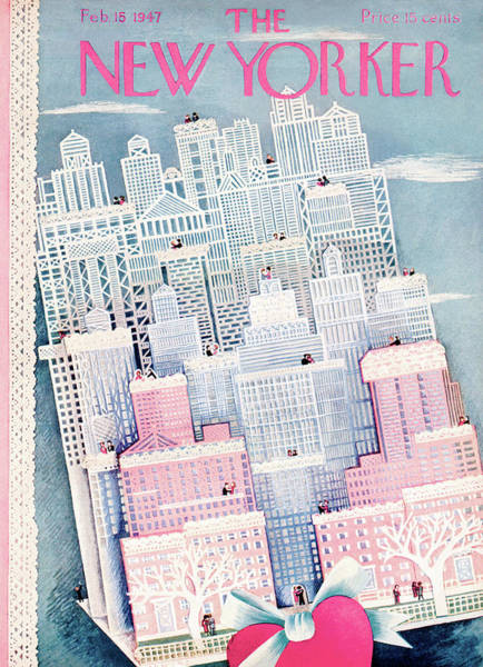Love Painting - New Yorker February 15th, 1947 by Ilonka Karasz