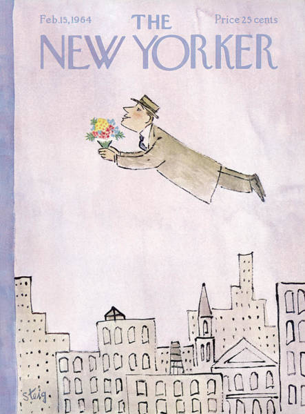 Men Painting - New Yorker February 15th, 1964 by William Steig