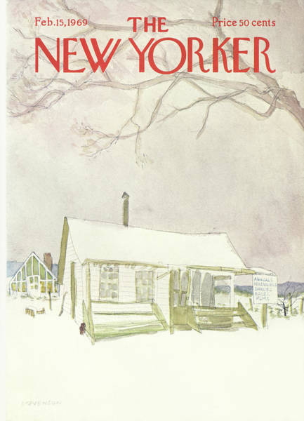 Love Painting - New Yorker February 15th, 1969 by James Stevenson