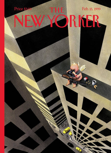 Skyscrapers Painting - New Yorker February 15th, 1999 by Ian Falconer