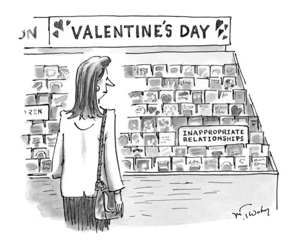 Holidays Drawing - New Yorker February 15th, 1999 by Mike Twohy