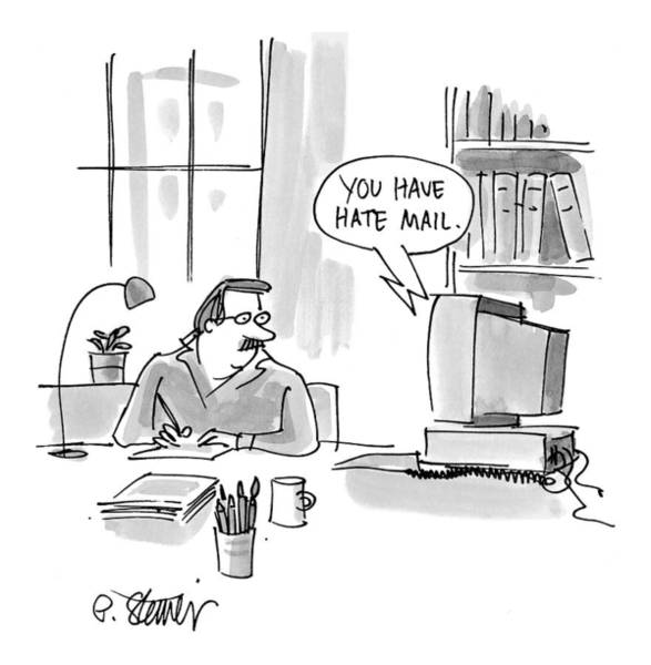 Internet Drawing - New Yorker February 15th, 1999 by Peter Steiner