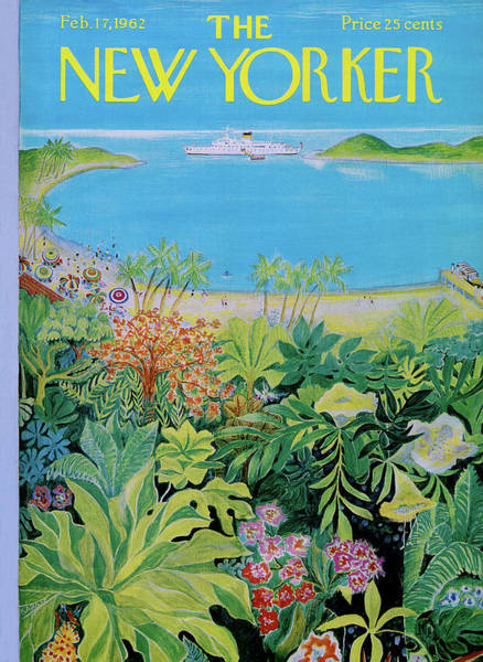 Plant Painting - New Yorker February 17th, 1962 by Ilonka Karasz