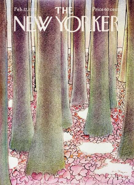Magazine Painting - New Yorker February 17th 1975 by Andre Francois