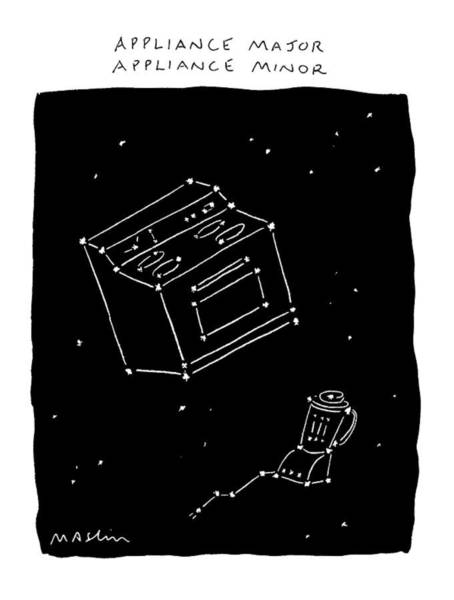 Constellation Drawing - New Yorker February 17th, 1992 by Michael Maslin