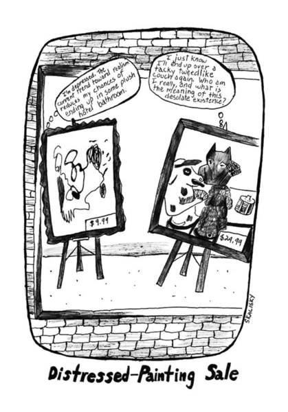 Depression Drawing - New Yorker February 17th, 1992 by Stephanie Skalisk