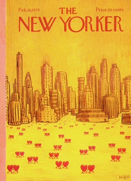 City Painting - New Yorker February 18th, 1974 by Robert Weber