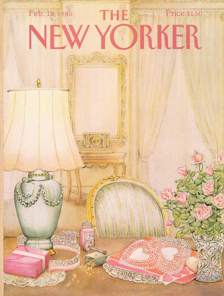 Fashion Painting - New Yorker February 18th, 1985 by Jenni Oliver