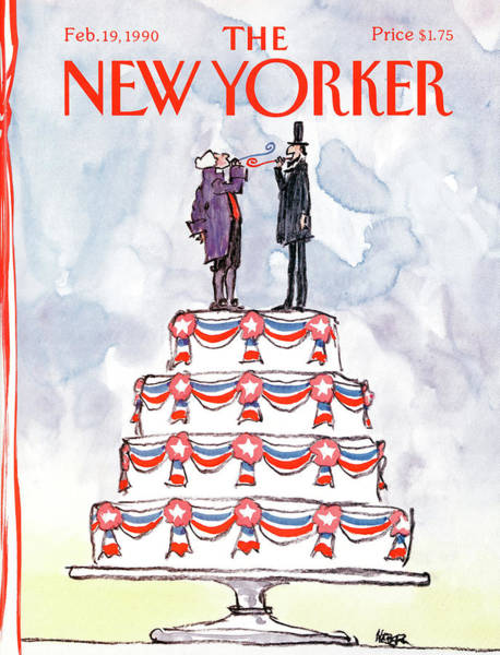 Washington Painting - New Yorker February 19th, 1990 by Robert Weber