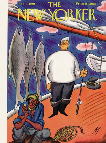 Sailboat Painting - New Yorker February 1st, 1930 by Julian de Miskey