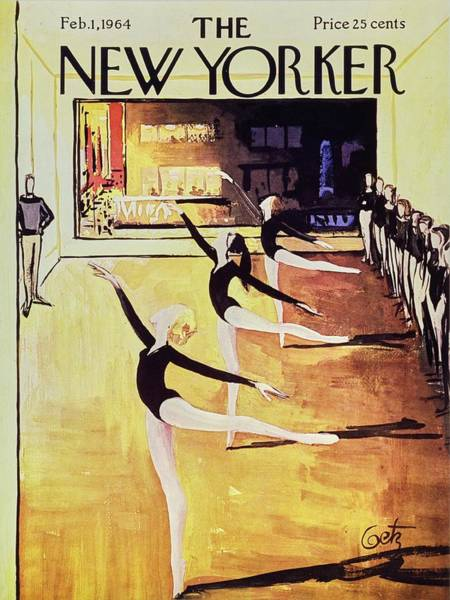 Ballet Painting - New Yorker February 1st 1964 by Arthur Getz