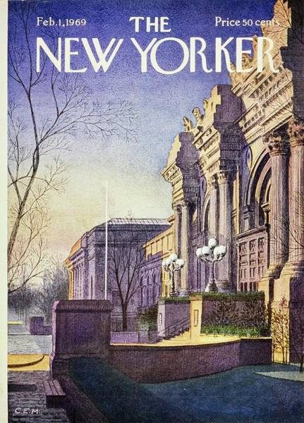 New York State Painting - New Yorker February 1st 1969 by Charles Martin