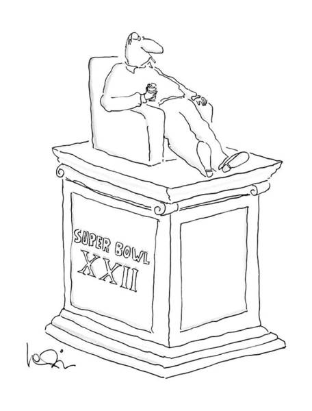 Monument Drawing - New Yorker February 1st, 1988 by Arnie Levin