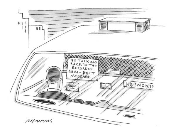 Taxi Drawing - New Yorker February 1st, 1999 by Mick Stevens