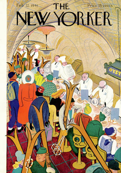 Restaurant Painting - New Yorker February 22nd, 1941 by Alain