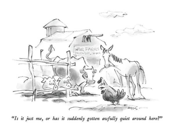 Rural Drawing - New Yorker February 22nd, 1988 by Lee Lorenz