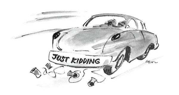 Old Car Drawing - New Yorker February 23rd, 1987 by Lee Lorenz