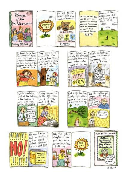 Fork Drawing - New Yorker February 25th, 1991 by Roz Chast
