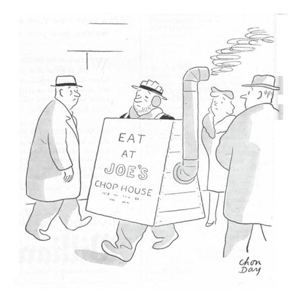 Sandwiches Drawing - New Yorker February 26th, 1944 by Chon Day