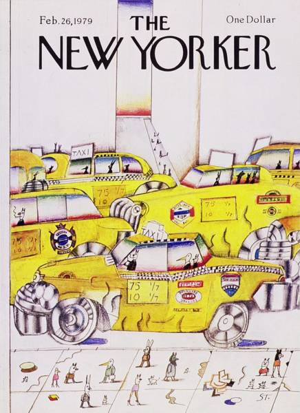 Wall Art - Painting - New Yorker February 26th 1979 by Saul Steinberg