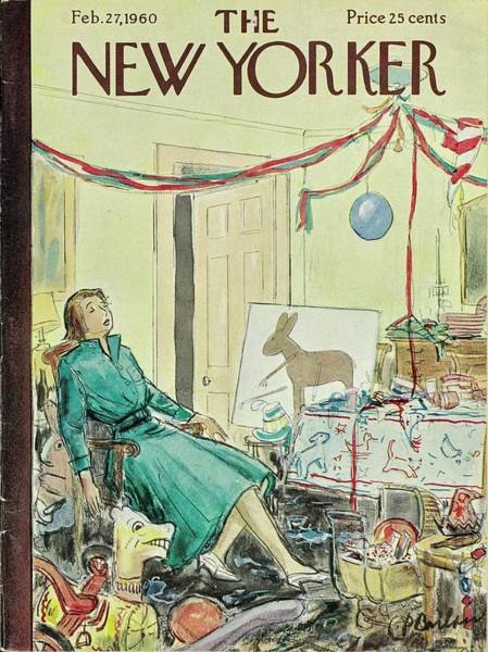Wall Art - Painting - New Yorker February 27th 1960 by Perry Barlow