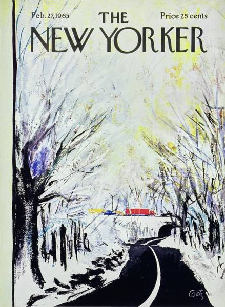 Winter Landscapes Painting - New Yorker February 27th 1965 by Arthur Getz