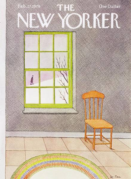 Tile Floor Painting - New Yorker February 27th 1978 by Pierre Le-Tan