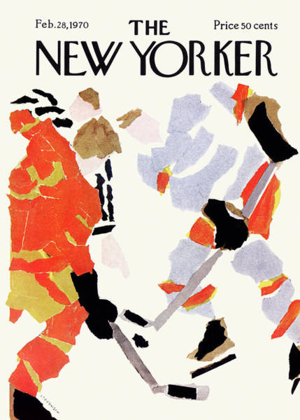 Skating Painting - New Yorker February 28th, 1970 by James Stevenson